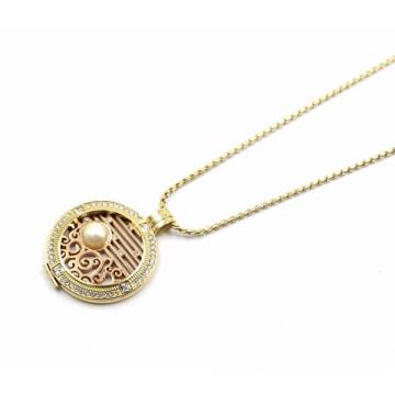 Nouveau collier pendentif design Locket flottant avec plaque de monnaie interchangeable