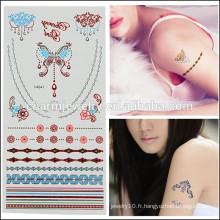 Vente en gros Nouveaux Design Colorés Temporairement Tatouage Design mignon pour Lovely Girls V4625