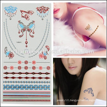 Wholesale Newest Design Colorful Temporary Tattoo Cute Design for Lovely Girls V4625