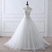 LZ175 Alibaba Romantic Empire Vestidos de casamento do laço do vintage Vestidos Mulheres elegantes