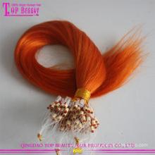 2015 Nouveaux produits 100% humain en gros remy cheveux brésiliens pas cher micro boucle extentions de cheveux