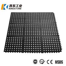 Hot Sale Interlocking Anti Slip Kitchen Flooring Rubber Ring Mat Sheet with Holes Price