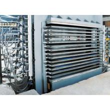 Máquina laminadora de prensa caliente para MDF de melamina
