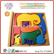 Apprentissage éducatif Jouets en bois Livre de puzzle