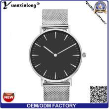YXL-297 moda venta caliente venta por mayor relojes hombres malla Correa acero Japón Movt Custom fábrica muñeca reloj para hombre