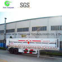 8 CNG Jumbo Tubes CNG Cylinder Container Semi-remorque