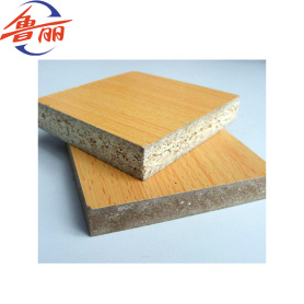 Melamine or veneer faced particle board