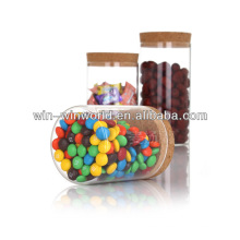 Wholesale Cork Lid Sugar Glass Jar