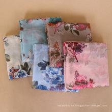 Cuello desgaste accesorios estilo pastoral voile impresión floral chal bufanda dama
