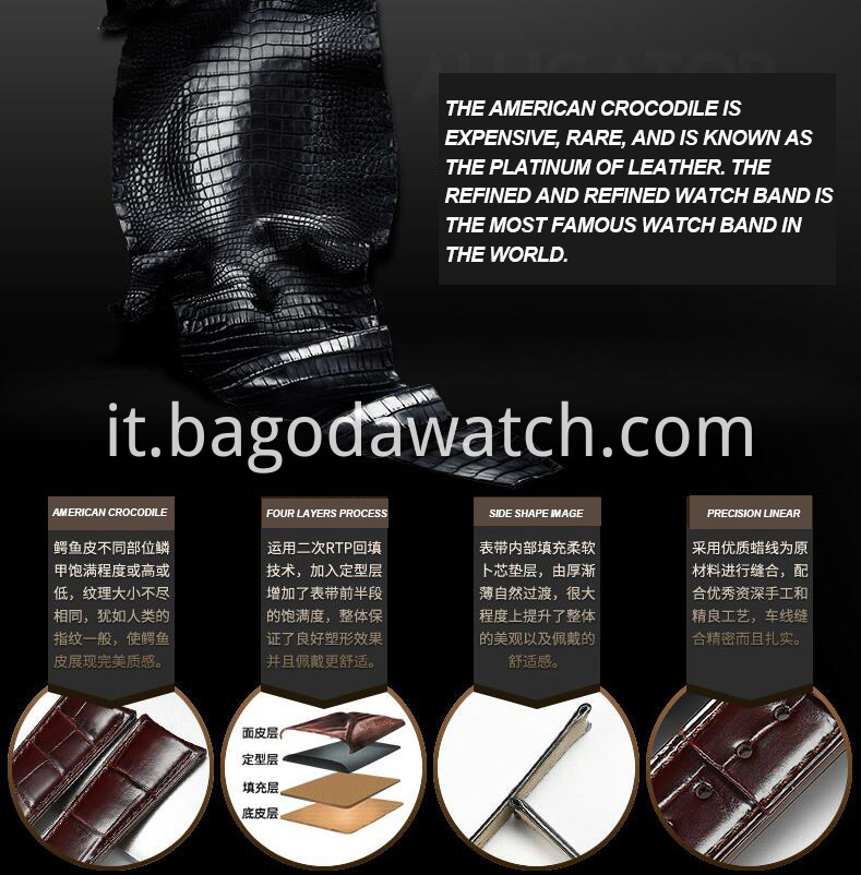 Brown Crocodial Watch Band