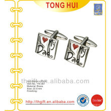 "The ""I love My Dad"" engraved logo metal cufflinks for novelties"