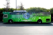 Outdoor LED Bus Display for Advertising
