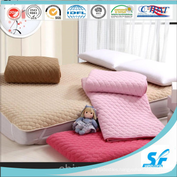 Cotton Mattress Pad Polyester Fiber Filled