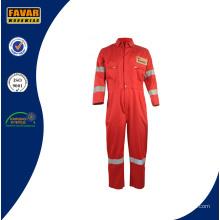 Sécurité incendie rouge coton retardateur de combinaison de travail
