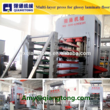 Multi-layer hot press machine for high glossy laminate flooring