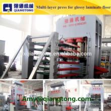 Máquina de pressão quente multicamada para piso laminado de alto brilho