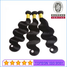 Human Hair Virgin Wefts Wigs Good Quality 100% Real Brazilian Hair Human Hair Extensions No Shedding Black Body Wave Double Drawn Thick Hair End