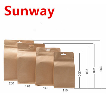 Zip lock Kraft Paper Bag
