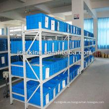 China Nanjing Jracking Step Beam / Wire Mash Estantería de mano pila para cargas medianas a pesadas Long Span Shelving estantería