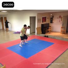 Pisos de artes marciales - alfombra de EVA Karate color azul rojo