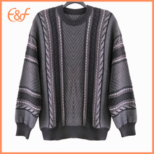 Fashion Mens Cable Knit Pullover  Sweater Jumper