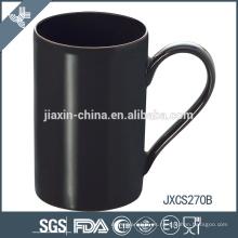 Taza de la porcelana de las tazas de café del gres del negro del diseño de 10oz X 'mas