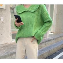 Новый свободный пуловер с французским воротником 2020 года