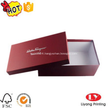 Luxury cardboard shoe packaging box with lid