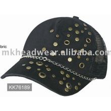 Fashional trucker caps with brass studs