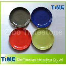 Plato de cena de cerámica sólida al por mayor del color sólido
