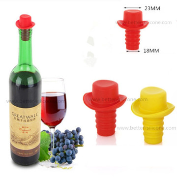Custom Colorful Beer Glass Bottle Silicone Stoppers Plugs