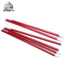 Seções ajustáveis flexíveis anodizadas do pólo da barraca do alumínio da série 7001