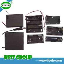 Tenedor de batería impermeable del tenedor de batería de la célula de botón de la batería 12V 18650