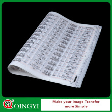 servicio de impresión de transferencia de calor etiqueta personalizada de etiqueta de China