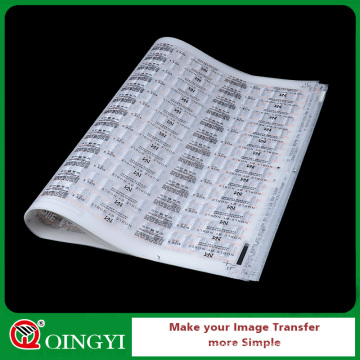 custom sticker label heat transfer printing service from China