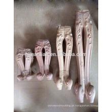 pernas de mesa de escultura em madeira maciça