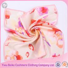 Novo cachecol de seda colorida de seda pequena