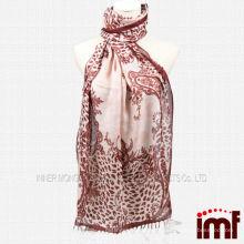 Leopard Paisley Impressão Cachecinha Modal Cashmere