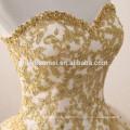2017 neue Mode Schatz Ausschnitt Puffy Ballkleid Champagner farbige Brautkleider mit schweren Handarbeit