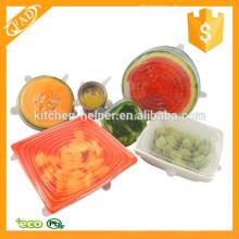 Лучшая в использовании силиконовая крышка для пищевых продуктов Набор из 6