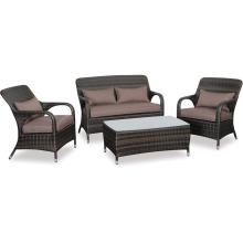 Garden Rattan Lounge Patio Outdoor Furniture Wicker Sofa Set
