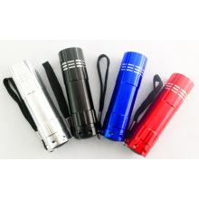 Mini linterna promocional del bolsillo de la linterna del regalo de la linterna 9LED portable