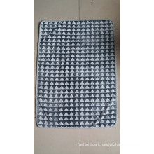 New 3D Triangle Embossed Flannel Fleece Blanket / Cut Fleece Blanket