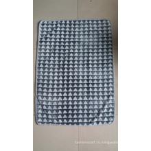 Новый трехмерный треугольник с тиснением фланелевым флисом Одеяло / обрезное флисовое одеяло