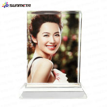 sublimation fancy crystal photo frame photo crystal wedding gift crystal trophy