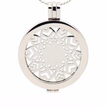 Venda quente personalizado em aço inoxidável moeda medalhão pingente de jóias