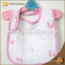 Baberos de bebé de tela de algodón de gasa de 6 capas, babero de bebé 100% algodón