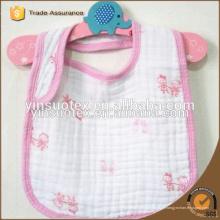 Bavoir bébé en coton à 6 plis, biberon 100% coton