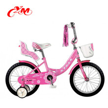 "Hot selling 2018 new design children bikes/4 wheels metal cheap bicycle for kids/cute 16"" cheap girls bikes"