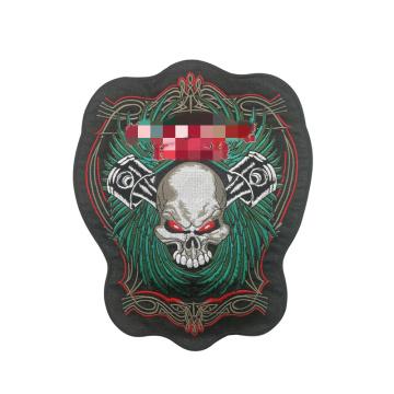 Insignia del bordado del águila de los parches bordados de la motocicleta del paño